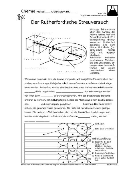 der rutherford 39 sche streuversuch chemie website f r den chemieunterricht. Black Bedroom Furniture Sets. Home Design Ideas